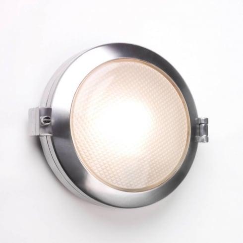Astro Lighting Toronto 0325 Round Polished Aluminium Outside Wall Light IP65