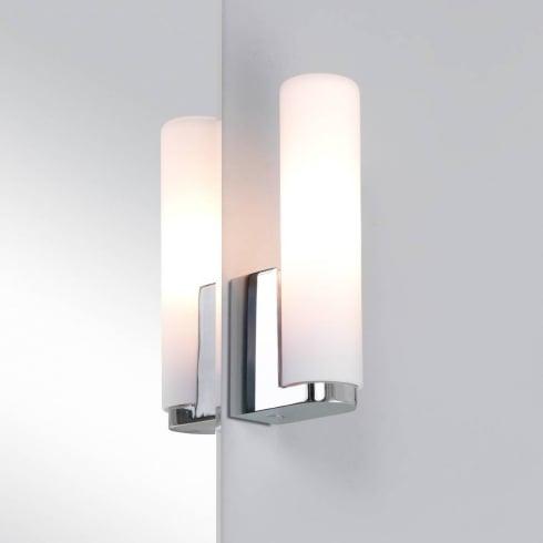 Astro Lighting Tulsa 0327 Chrome and Opal Glass Bathroom Wall Light