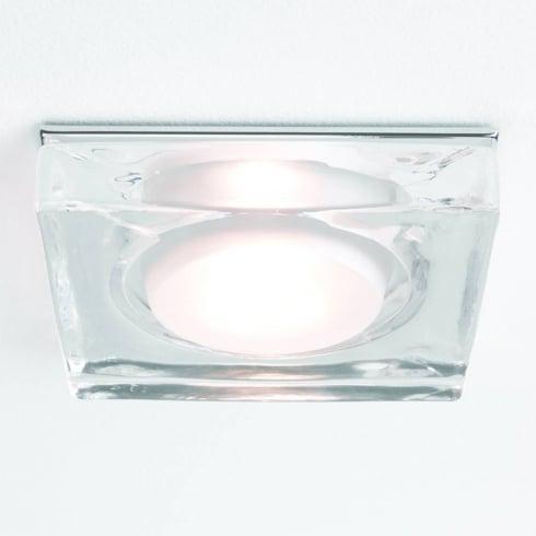 Astro Lighting Vancouver 5510 Glass Chrome Square Bathroom Downlight Low Voltage 12V IP65