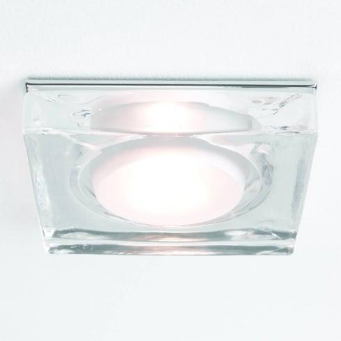 Astro Lighting Vancouver 5519 Glass Chrome Square GU10 Shower Downlight 230V IP65