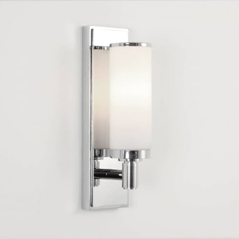 Astro Lighting Verona 0655 Bathroom Surface Wall Light Polished Chrome Opal Glass