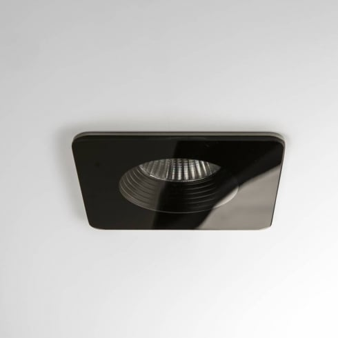 Astro Lighting Vetro Square 5705 Black Integrated LED Bathroom Downlight Low Voltage IP65