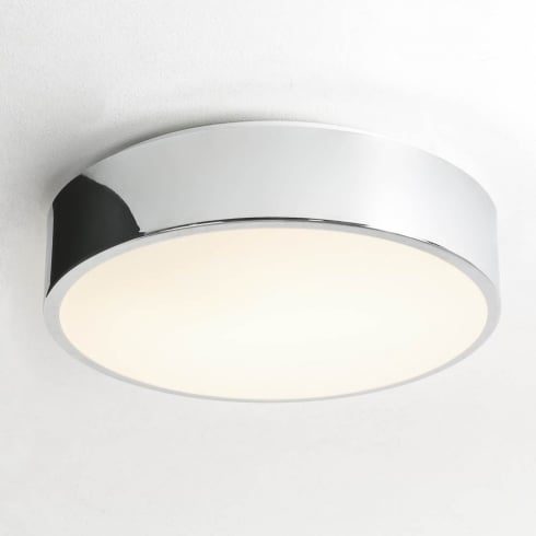 Astro Lighting Mallon Plus 0591 Unswitched Polished Chrome Finish Round Flush Ceiling Light