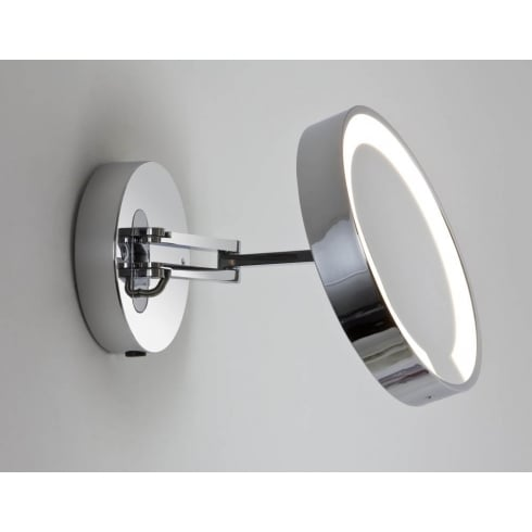 Astro Lighting Catena 0628 Switched Polished Chrome Finish Swing-Arm Magnifying Surface Wall Mirror