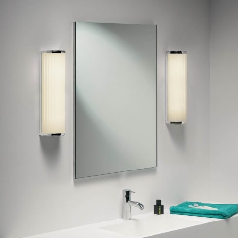 Astro Lighting Monza Classic 400 0915 Unswitched Polished Chrome Finish Bathroom Surface Wall Light