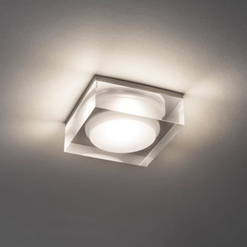 Astro Lighting Vancouver 90 Square 5698 Polished Chrome Finish Bathroom Downlight