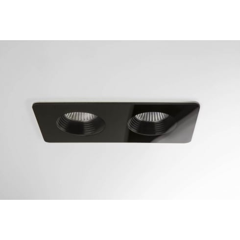 Astro Lighting Vetro Twin 5706 Black Finish Recessed Bathroom Downlight