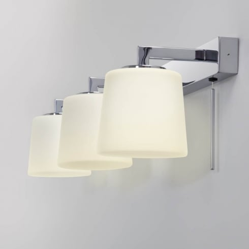 Astro Lighting Triplex 7093 Switched Polished Chrome Finish Bathroom Surface Wall Light