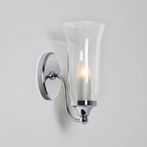 Astro Lighting Biarritz 7137 Unswitched Polished Chrome Surface Bathroom Wall Light