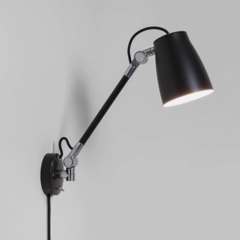 Astro Lighting Atelier Grande Wall 7505 Switched Black Finished Surface Wall Light