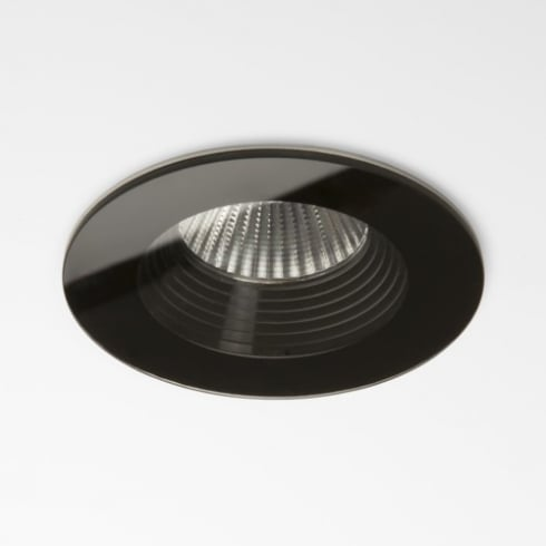 Astro Lighting Vetro Round Fire Rated 5734 Black Finish Recessed Bathroom Downlight
