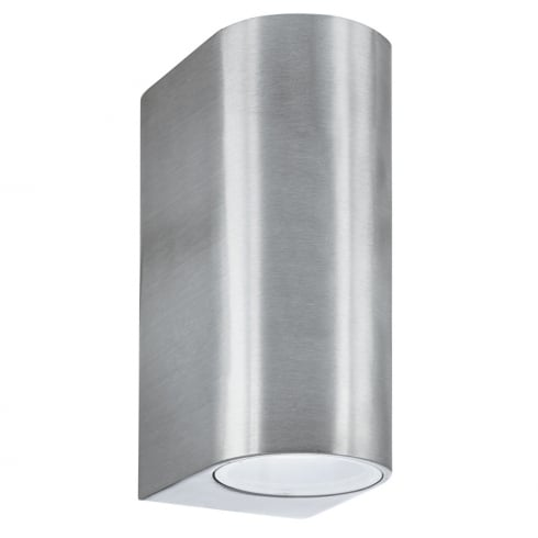 Searchlight Electric Silver 8008-2SS Outdoor Surface Wall Light