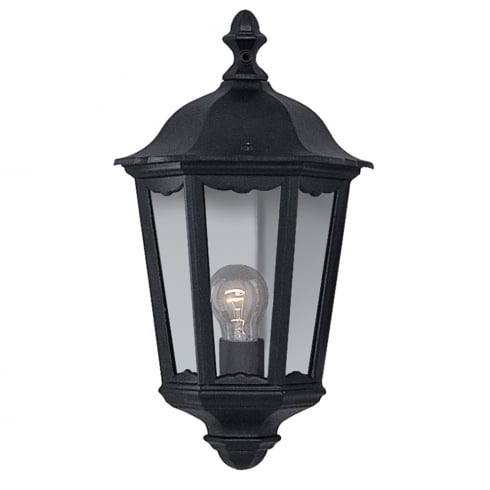Searchlight Electric Alex 82505BK Half Outdoor Surface Wall Light