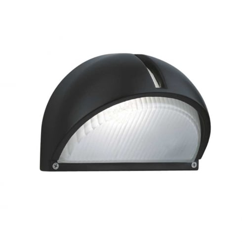 Searchlight Electric 130 Black Half Moon Outdoor Surface Wall Light