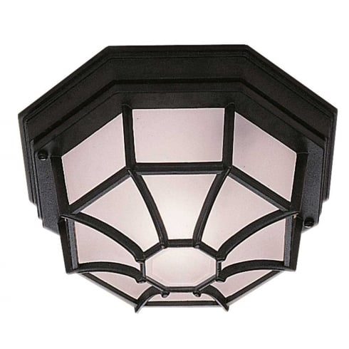 Searchlight Electric 2942BK Hexagonal Flush Outdoor Ceiling Light
