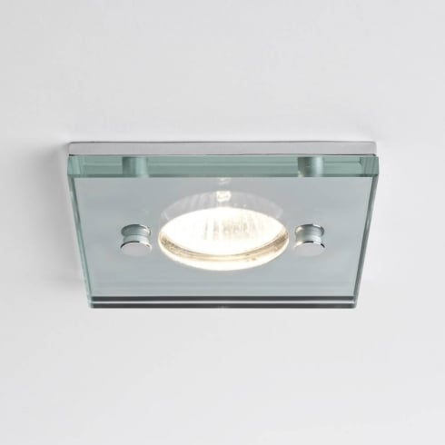 Astro Lighting Ice 230v 5503 Square Glass Chrome Shower GU10 Downlight IP65