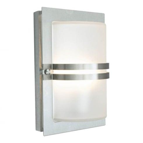 Elstead Lighting Basel E27 Stainless Steel Frosted BASEL E27 S/S F Exterior Wall Light