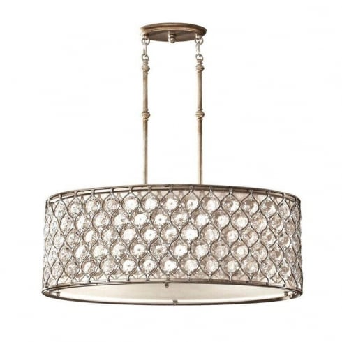 Elstead Lighting Lucia FE/LUCIA/P/A Oval Pendant Light