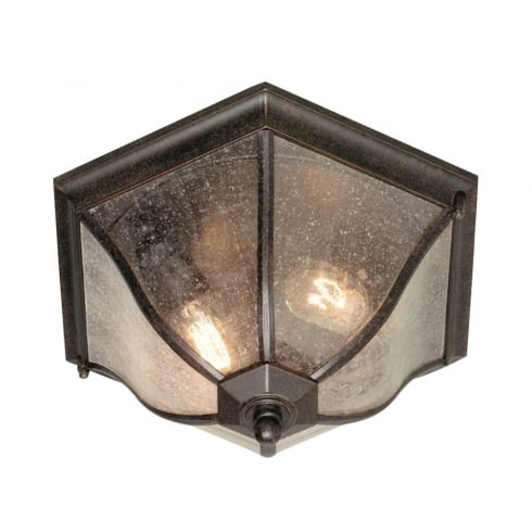 Elstead Lighting New England Flush Lantern Medium NE8/M Exterior Ceiling Light