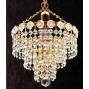 4 Tier Chandelier KP/10/1 Crystal Strands Ceiling Light