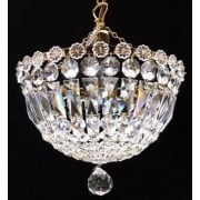 Baguette JP/10/1 Gold Plated Crystal Czech Strass Trimmings Ceiling Light