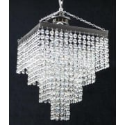 4 Tier 179/11/3 Crystal Button Trimmings Square Pendant