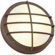 Bulan Grid 229087 Round Rust-Coloured Wall Light