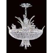 ECLIPSE CO012092/08/CH Polished Chrome With Crystal Detail Chandelier