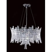 ECLIPSE CO012092/12/CH Polished Chrome With Crystal Detail Chandelier