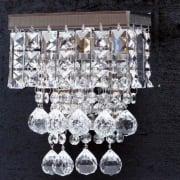 Enigma 198/1 Crystal Square, Lozenge, Ball & Button Wall Bracket