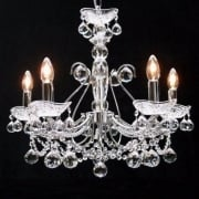 Concerto 1524/5B Chrome Armed With Lead Crystal Ball Trimmings Pendant