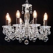 Figaro 411/8 Chrome With Crystal Ball Trimmings Chandelier