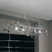 Papagena 0217.85.5.SSTRBK Chrome Chandelier