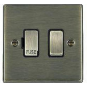 Hartland 79SPAB-B Antique Brass 1 gang 13A Double Pole Fused Spur