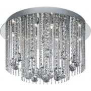 Beatrix 8088-8CC Chrome With Crystal Detail Semi-Flush Ceiling Light