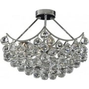 Sassari 6555-5CC Chrome With Crystal Detail Semi-Flush Chandelier