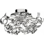 Curls 5812-12CC Chrome With Crystal Detail Semi-Flush Ceiling Light