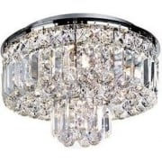Vesuvius 7755-5CC Chrome And Crystal Ceiling Light