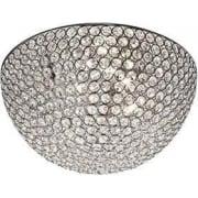 Chantilly 5163-35CC Chrome And Crystal Flush Light