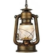 Lantern 3841-1BG Black Gold And Glass Lantern