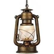 Lantern 3841-1BG Black Gold And Glass Lantern