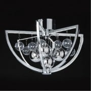 Muni MUNI-CH-F Chrome Semi Flush Ceiling Light