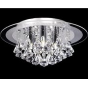 Renner RENNER-5CH Crystal & Glass Semi Flush Ceiling Light