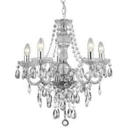 The Marie Therese 8885-5CL 5 Light Traditional Chandelier in Polished Chrome