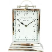 Chaucer Clock 137176 Medium Aluminium Rectangular