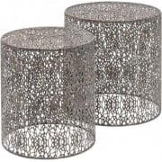 Caprio 231154 Set of Two Decorative Grey Nesting Side Tables