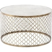 Empire Iron 213493 Quatrefoil Round Coffee Table with Mirror Top
