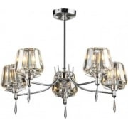 Selina SEL0550 Polished Chrome 5 Light Semi Flush Ceiling Fitting