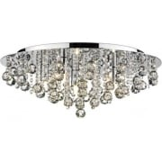 Pluto PLU0850 Polished Chrome Flush 8 Light Ceiling Fitting