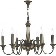 Bailey BAI0663 Rich Bronze 6 Light Pendant